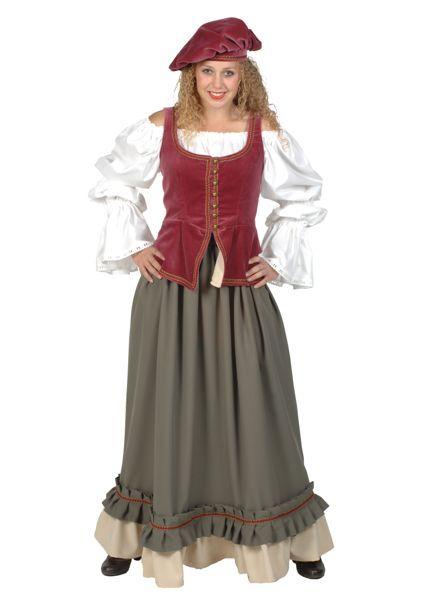 middeleeuwse verkleedkleding voor een volwassen vrouw