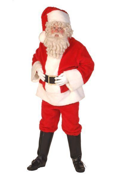 kerstmanpak rode jas, rode jas, rode muts, bel en dikke buik
