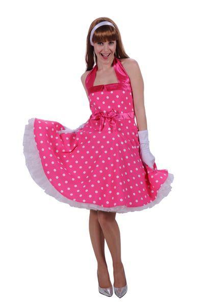 jaren 70 damesoutfit rose jurk