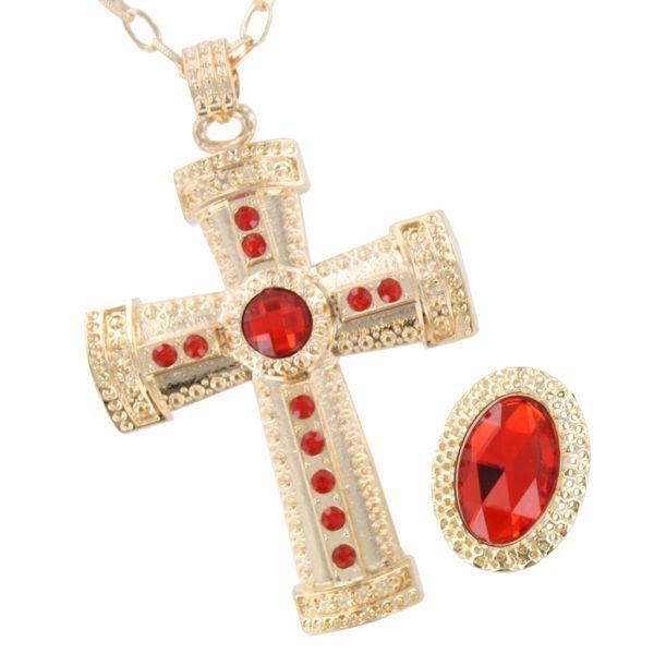 de gouden juwelen van sinterklaas, rijkelijk belegd met safier en diamanten