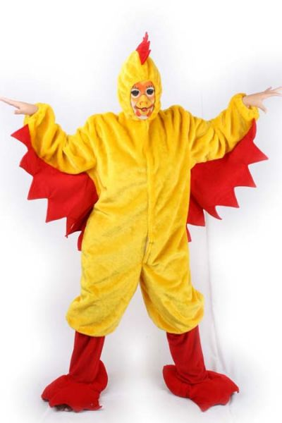 kippenpak geel voor volwassene