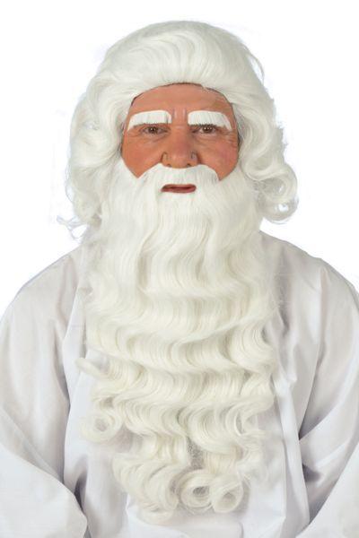 de beharing van sinterklaas, baard en pruik