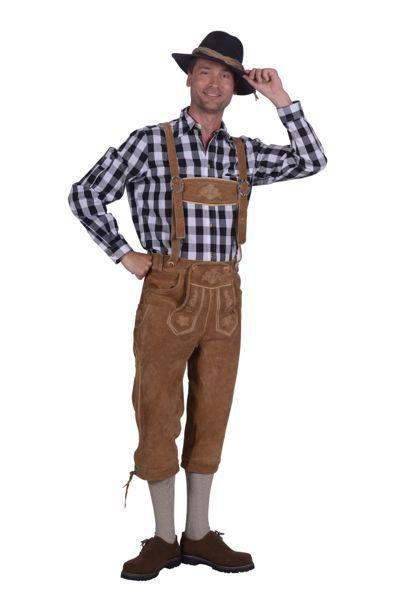 Oktoberfest-outfit lederhose en blouse