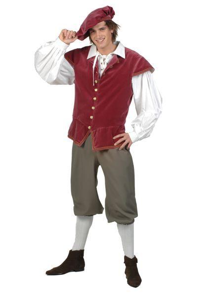 middeleeuwse kleding voor een volwassen man