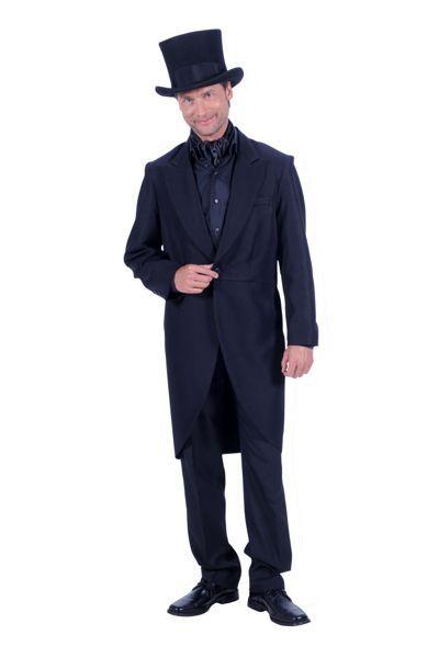 Charleston-mannenpak 3 delig geheel in zwart met hoed