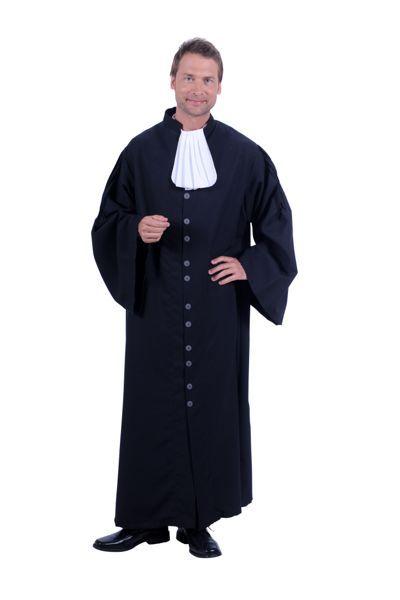 Toga zwart met bef van een rechter