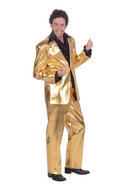 jaren 70 outfit gouden pak
