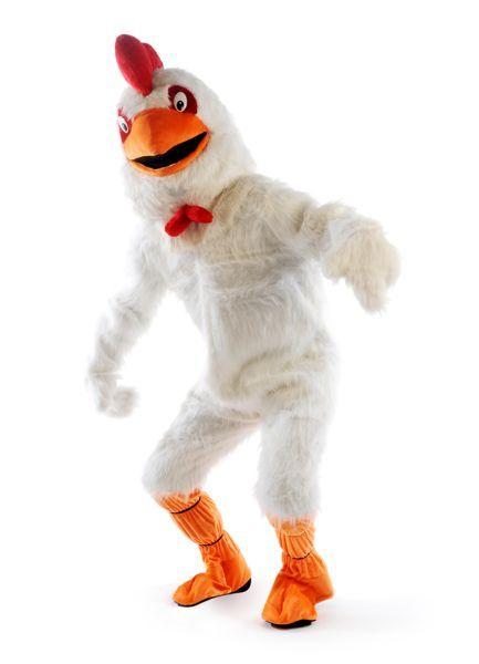 Dierenverkleedpak van een witte kip