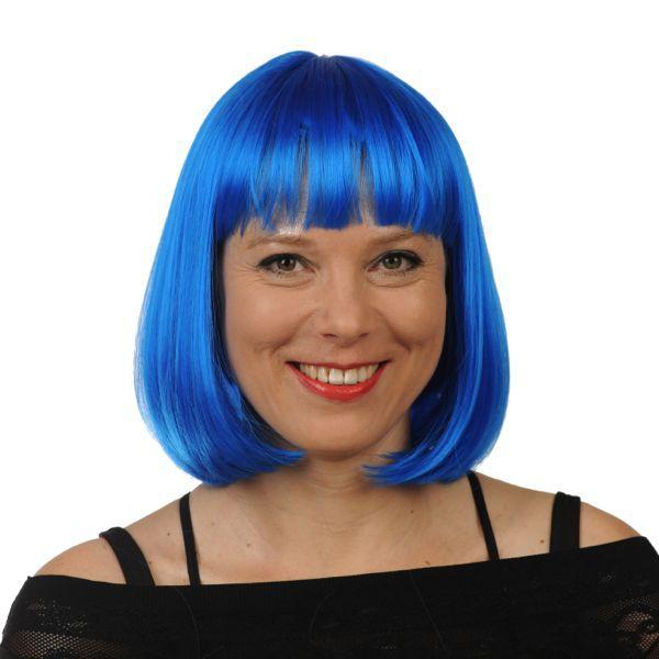 jaren 70 pruiken kleur blauw