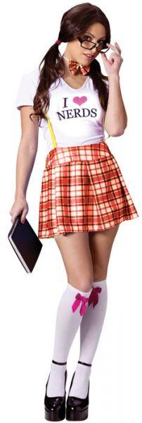 nerd outfit met jurkje en shirt