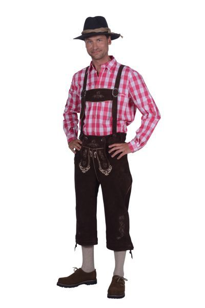 Oktoberfest-kleding lederhose en blouse