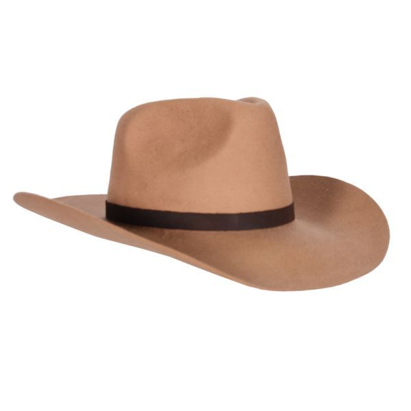 Bruine cowboyhoed met leren band