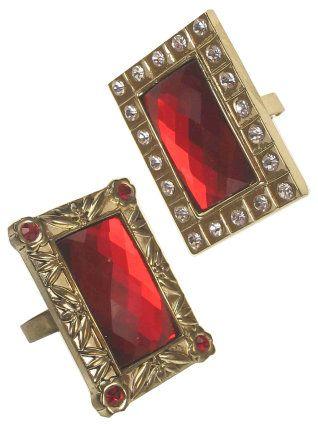 de ring van sinterklaas met goud en rode diamant